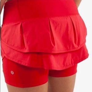 Red Lululemon skort, size 4